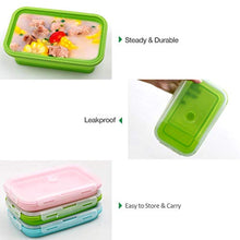 Load image into Gallery viewer, Silicone Food Storage Containers with Lids - 3 Pack Set 1200ml Collapsible Meal Prep Lunch Containers Bento Boxes - Microwave, Freezer and Dishwasher Safe - iBuy Africa