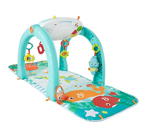 Fisher-Price 4-in-1 Ocean Activity Centre with Different Ways to Play as Baby Grows with Songs, Sounds, Phrases, Lights, Colours and Textures, Suitable from Birth - iBuy Africa