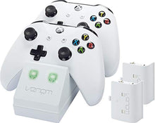Load image into Gallery viewer, Venom Xbox One Twin Docking Station with 2 x Rechargeable Battery Packs: White (Xbox One) - iBuy Africa