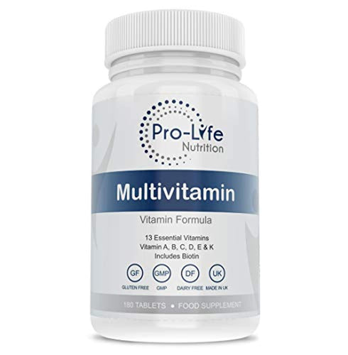 Multivitamin Tablets for Women & Men - 180 Tablets 6 Month Supply - 13 Essential Multi Vitamins for Men & Women Including Vitamin B Complex & Vitamin D3 K2 - Multivitamins by Pro-life Nutrition - iBuy Africa