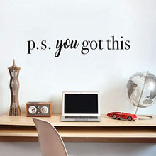 Load image into Gallery viewer, You Got This Wall Decal Inspirational Attitude Vinyl Wall Sticker for Office, Bathroom Mirror Decal, Family Lettering Stickers Home Wall Decorations, Black - iBuy Africa