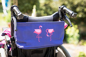 BundleBean Buggy/Stroller Organiser, Storage Bag, Nappy Pouch - fits to Handlebar of Any Pushchair/Buggy/Stroller Polar Bear (Navy Flamingo) - iBuy Africa