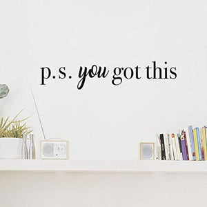 You Got This Wall Decal Inspirational Attitude Vinyl Wall Sticker for Office, Bathroom Mirror Decal, Family Lettering Stickers Home Wall Decorations, Black - iBuy Africa