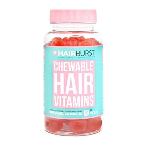 Hairburst Biotin Chewable Hair Vitamins - 1 Month Supply - 60 Gummies - Hair Vitamins for Growth and Hair Loss - for Longer, Stronger, Thicker Looking Hair - iBuy Africa