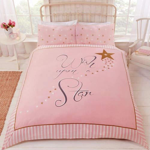 Rapport Wish Upon a Star Duvet Cover Set, Polycotton, Pink, Single - iBuy Africa
