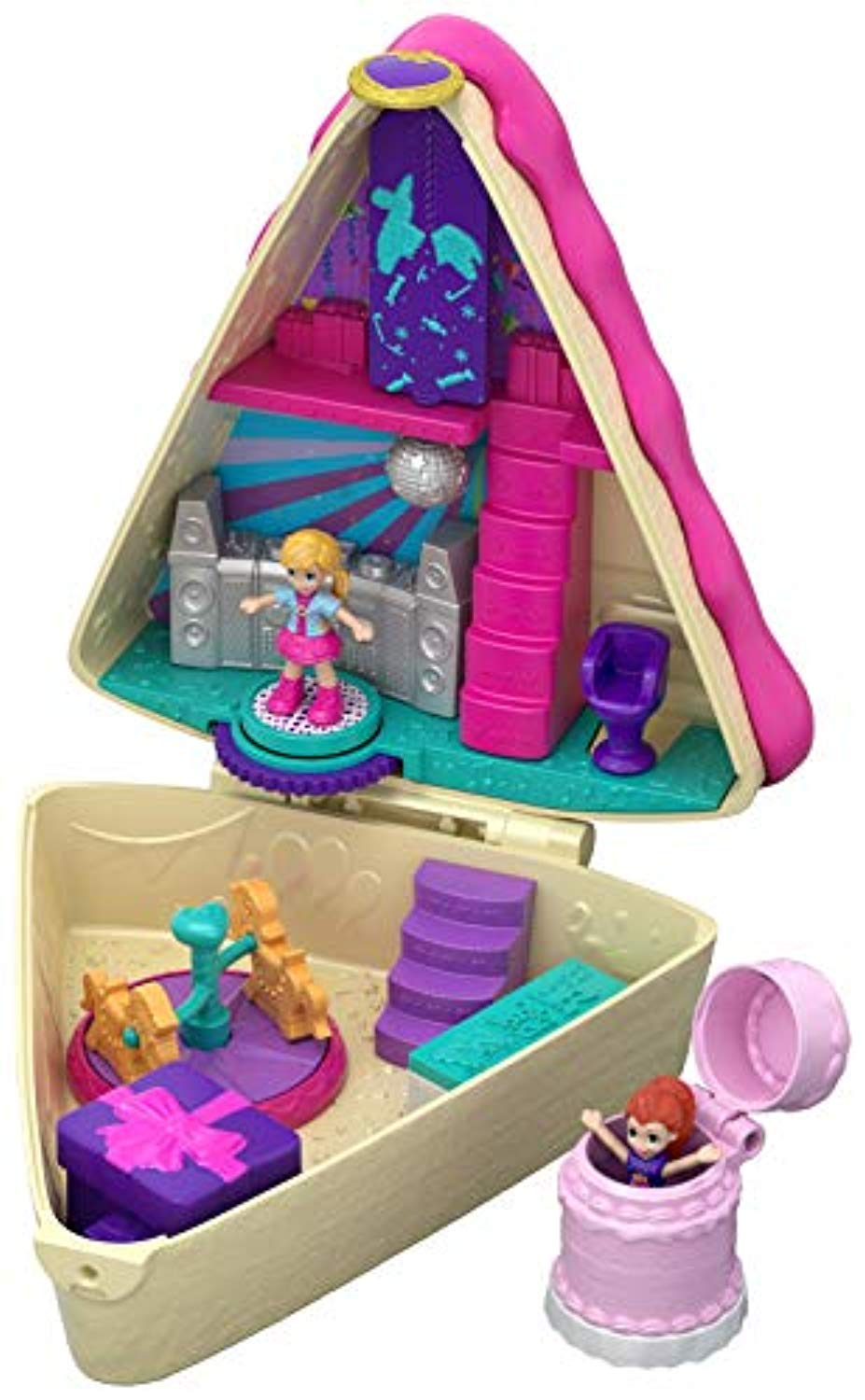 Polly Pocket GFM49 Birthday Cake Bash Compact, 2 Dolls and Accessories, Multi-coloured - iBuy Africa