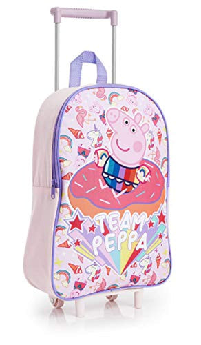 Peppa Pig Unicorn Suitcase for Girls, Kids Trolley Hand Luggage with 2 Wheels, Practical Carry On Suitcase, Children Toddlers Travel Bag with Pink Unicorn, Gifts for Girls Boys Age 3 + - iBuy Africa