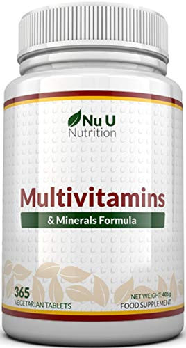 Multivitamins & Minerals Formula | 365 Tablets (Up to 1 Year Supply) | 24 Multivitamins with Iron and Minerals for Men and Women | Multivitamin Tablets Suitable for Vegetarians by Nu U Nutrition - iBuy Africa