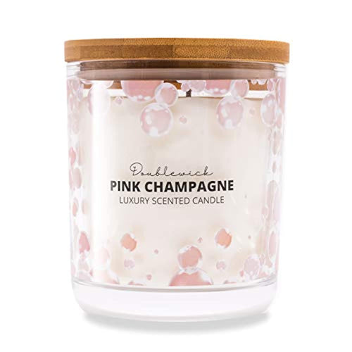 Double Wick Pink Champagne Strong Clean Scented Candle, up to 60 Hours Burn Time - iBuy Africa