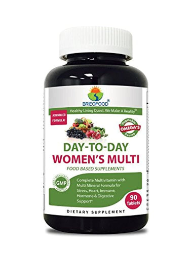 Briofood Day-to-Day Women's Multi Tablet, Food Based Multivitamin with Vegetable Source Omegas, 90 Count - iBuy Africa