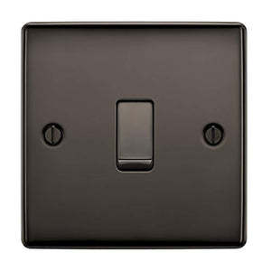 BG Electrical Single Light Switch, Black Nickel, 2-Way, 10AX - iBuy Africa