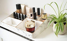 Load image into Gallery viewer, Nikita By Niki ® White & Rose Gold Marble Make Up Organiser | Acrylic Cosmetic Skin Care Storage Display - iBuy Africa