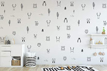 Load image into Gallery viewer, Animal Wall Stickers for Kids Bedrooms, Nursery, Baby Room, Play Room, Kids Room – Stylish Safari, Woodland Animal, Jungle, Tree Wall Stickers for Baby Nursery. Black and White Bedroom Stickers- Homeware - iBuy Africa