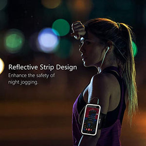 "Gritin Running Armband for iPhone 11/11 Pro/XS/XR/X/8/7/6 Plus, Skin-Friendly Sweatproof Sports Running Armband with Key and Headphone Slot for Phones up to 6.1""- Perfect for Jogging, Gym, Hiking - iBuy Africa"