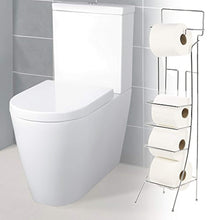 Load image into Gallery viewer, Chrome Toilet Roll Holder Stand (Square) - iBuy Africa