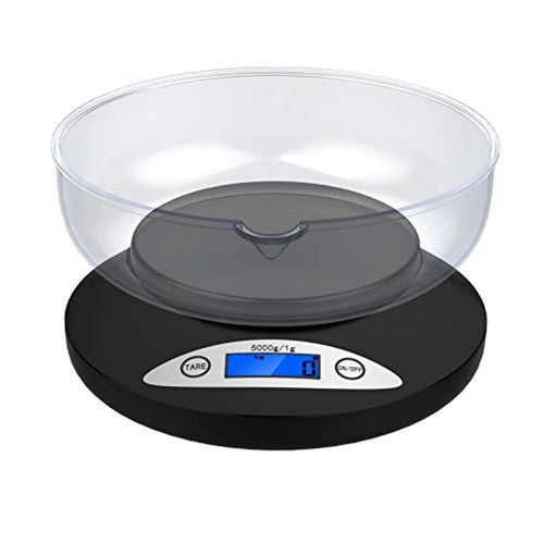 Digital Kitchen Scale, Ascher 5000g Electronic Cooking Food Scale with Back-Lit LCD Display, Mode and Tare Features 5000 x 1g (2 AA Batteries Included) - iBuy Africa