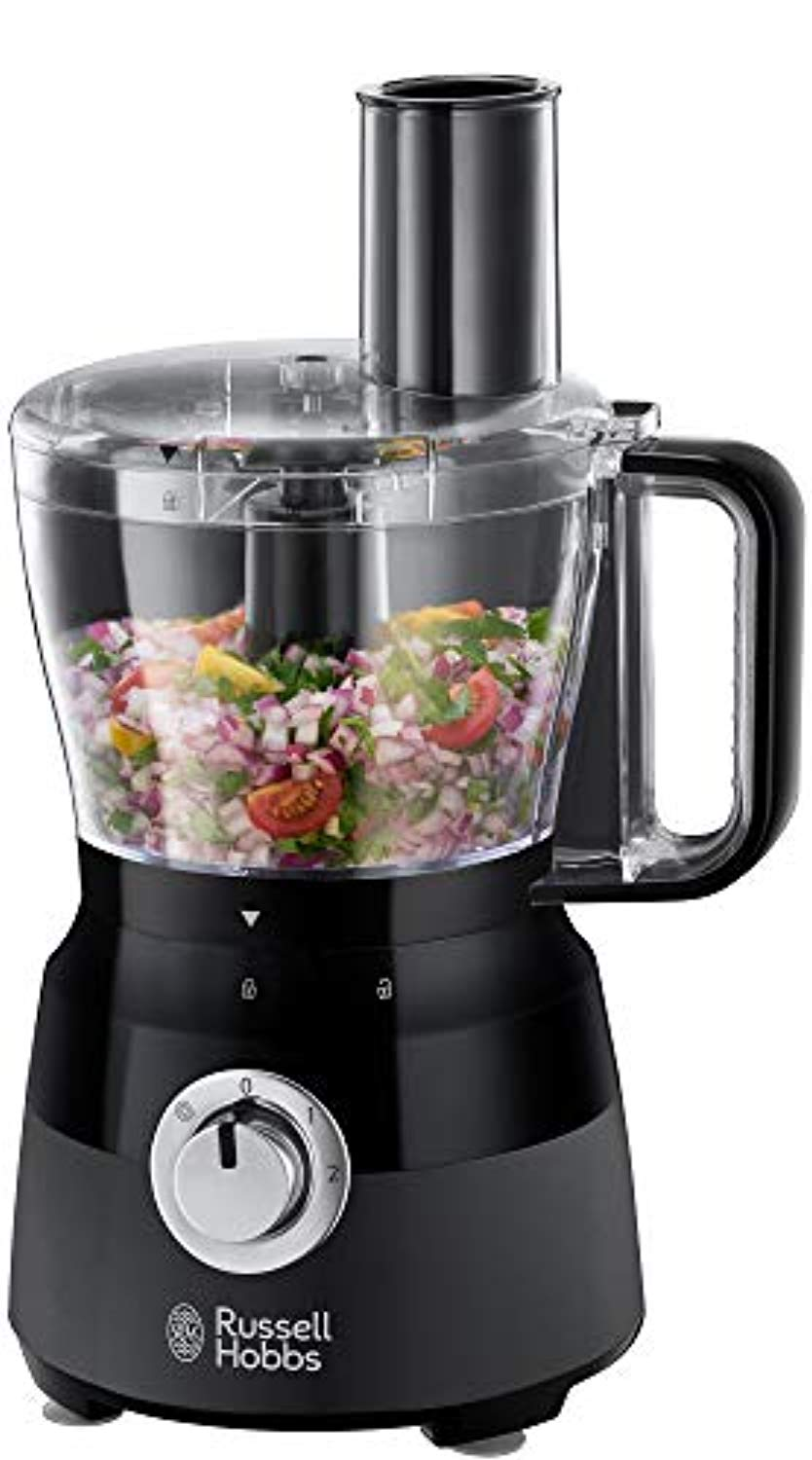 Russell Hobbs 24732 Desire Food Processor, 1.5 Litre Food Mixer with 5 Chopping, Slicing and Dough Attachments, Matte Black, 600 W - iBuy Africa