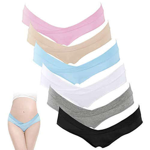 6 Pack Women Under The Bump Maternity Knickers Bikini Cotton Pregnancy Underwear - iBuy Africa