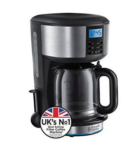 Russell Hobbs Buckingham Filter Coffee Machine, 1.25 Litre, Black/Silver - iBuy Africa