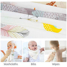 Load image into Gallery viewer, LifeTree Baby Washcloths Muslin 6 Pack, Baby Face Towel and Wash Cloths for Bath, Soft Baby Muslin Cloths, Wipes, Bibs for Girls & Boys 10.6 x 10.6inch - iBuy Africa