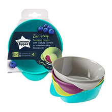Load image into Gallery viewer, Tommee Tippee Easy Scoop Feeding Bowls 7m+ (Colours May Vary), 4 Bowls - iBuy Africa