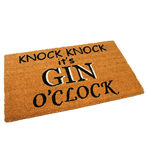 Black Ginger Large, Thick, Decorative, Patterned Coir Door Mats with Nature Designs Gin O'clock - iBuy Africa