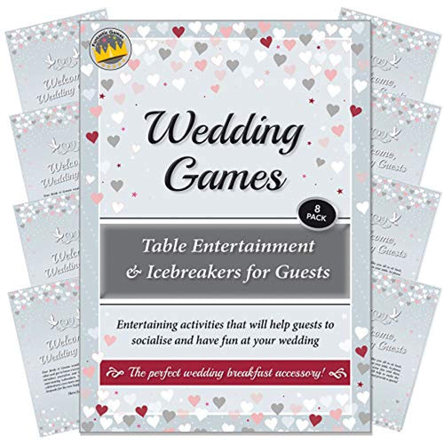 Wedding Games - Table Entertainment and Icebreakers for Guests. Entertaining activities that will help guests to socialise and have fun at your reception or wedding breakfast (Up to 8 Tables) - iBuy Africa