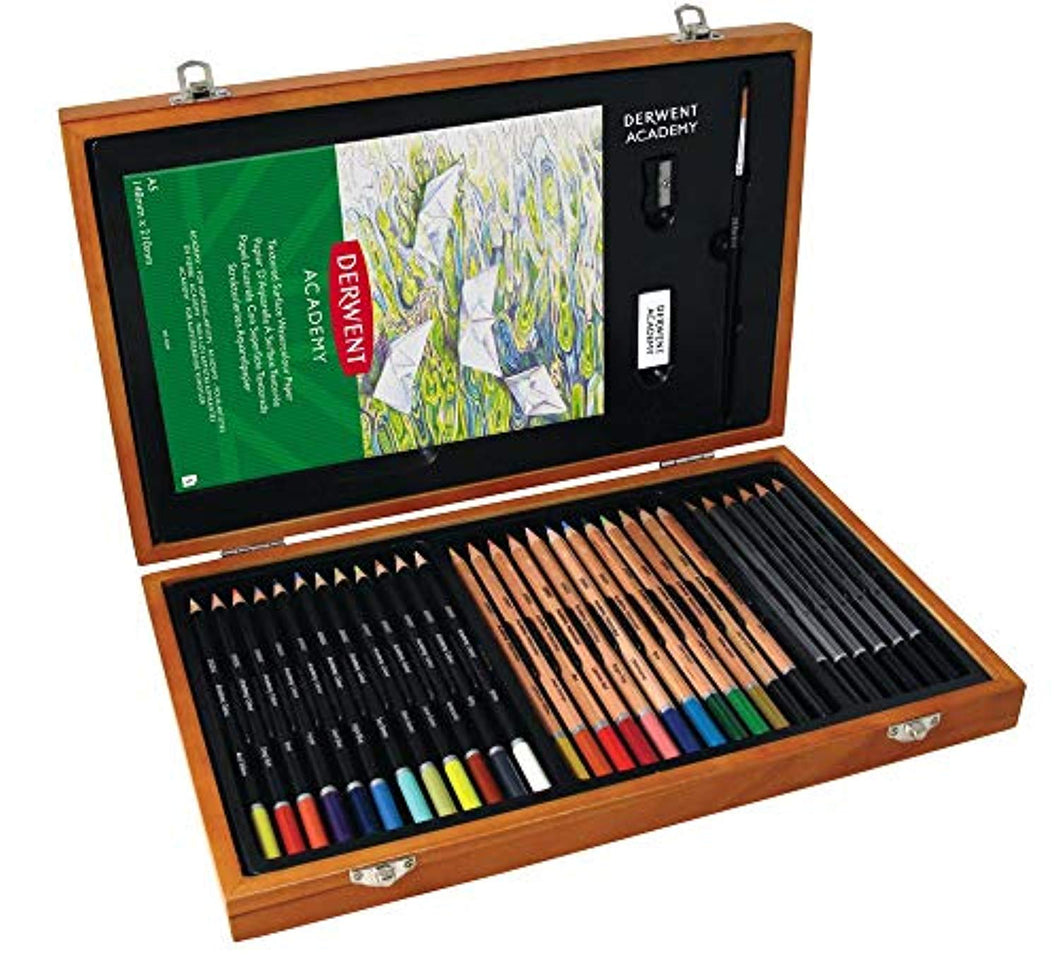 Derwent Academy 2300147 Colouring Pencils and Graphite Pencils Art Supplies Set of 30 Pencils and 5 Accessories - iBuy Africa