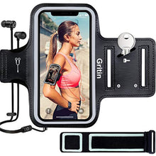 "Load image into Gallery viewer, Gritin Running Armband for iPhone 11/11 Pro/XS/XR/X/8/7/6 Plus, Skin-Friendly Sweatproof Sports Running Armband with Key and Headphone Slot for Phones up to 6.1""- Perfect for Jogging, Gym, Hiking - iBuy Africa"