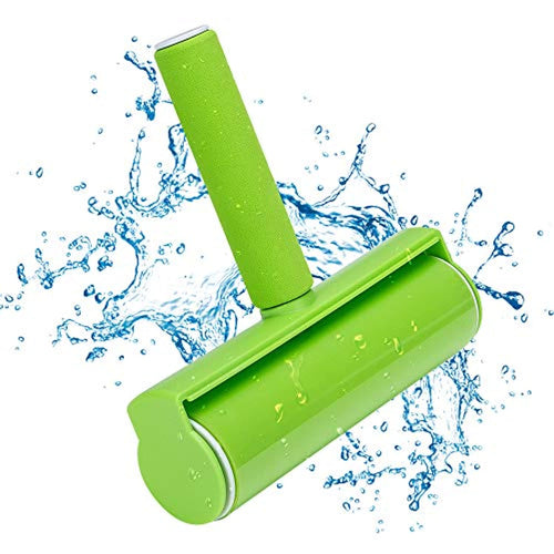 Coquimbo Sticky Lint Roller, Reusable and Washable Pet Hair Remover Brush, for Clothes, Carpet, Sofa, Car Seats, Dust, Pets hair, Durable and Comfortable Handle (Green) - iBuy Africa