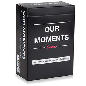OUR MOMENTS Couples: 100 Thought Provoking Conversation Starters for Great Relationships - Fun Conversation Cards Game for Couples - iBuy Africa