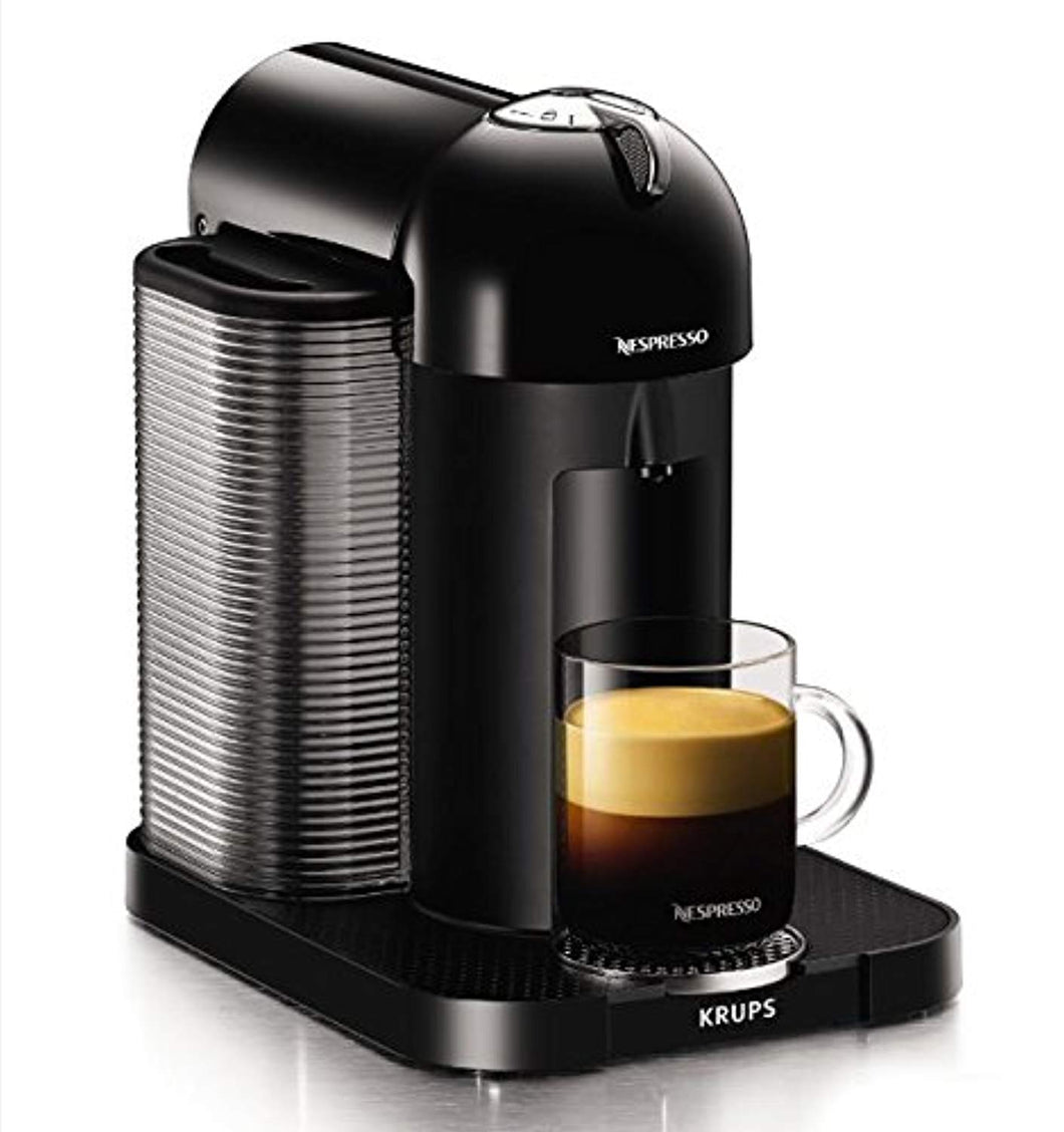 Nespresso, Pod Coffee Machine, Vertuo, Black finish by Krups, XN901840, 1260 W - iBuy Africa