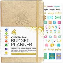 Load image into Gallery viewer, Clever Fox Budget Planner - Expense Tracker Notebook. Monthly Budgeting Journal, Finance Planner & Accounts Book to Take Control of Your Money. Undated - Start Anytime. A5 Size, Rose Gold Hardcover - iBuy Africa