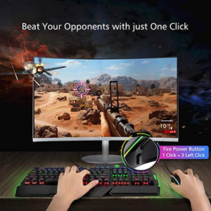 Gaming Mouse Wired, PICTEK 8 Programmable Buttons, RGB Backlit 7200 DPI Adjustable, Grip Ergonomic Optical PC Computer Gaming Mice with Fire Button - iBuy Africa