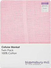 Load image into Gallery viewer, Bloomsbury Mill - Twin Pack - 100% Pure Cotton - Extra Soft Cellular Baby Blankets - Pram/Travel/Moses Basket - Pink - iBuy Africa