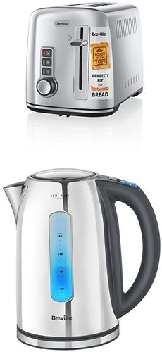 Breville Kettle & Toaster Set with 2 Slice Stainless Steel 2-Slice Toaster with Kettle - iBuy Africa