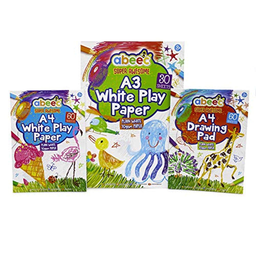 Drawing Pads for Children - (3 Pack) Includes 2 x A4 Sketch Pads and 1 x A3 Sketchbook - 150 Sheets in Total of Drawing Paper. - iBuy Africa