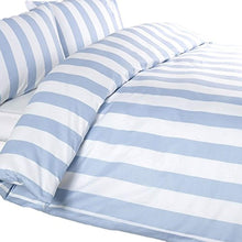 Load image into Gallery viewer, Louisiana Bedding Vertical Blue & White Stripe Duvet Cover Set 100% Cotton 200 Thread Count - SuperKing - iBuy Africa