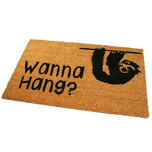 Black Ginger Large, Thick, Decorative, Patterned Coir Door Mats with Nature Designs Sloth - iBuy Africa