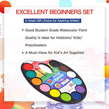 Load image into Gallery viewer, TBC The Best Crafts 12 Colours Watercolour Cake, Watercolour Paint Palette with Paint Brush, Educatioanl Art Supplies for School Kids - iBuy Africa