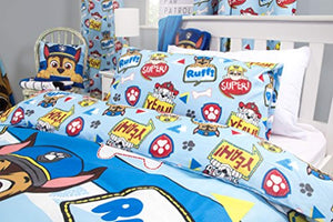 Paw Patrol Peek Boys Single Duvet Cover | Reversible Two Sided Design | Kids Bedding Set Includes Matching Pillow Case - iBuy Africa