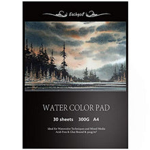 Load image into Gallery viewer, Eachgoo Watercolor Pad, 30 Sheets A4 Watercolour Aquarelle Paper 300gsm for Watercolor Painting,Drawing, Sketching - iBuy Africa