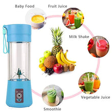 Load image into Gallery viewer, Mini Portable Blender, Smoothie Maker Personal Small Fruit Mixer Baby Food Processor Electric USB Rechargeable Juicer Cup Fruit Mixing Machine Home Travel 380ml,Six Blades 3D - iBuy Africa