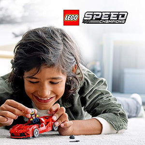 LEGO Speed Champions Ferrari F8 Tributo Racer Toy with Racing Driver Minifigure, Race Cars Building Sets - iBuy Africa