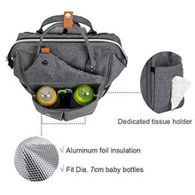Load image into Gallery viewer, Lekebaby Nappy Changing Bag Backpack with Changing Mat, Arrow Print, Grey - iBuy Africa