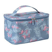 Load image into Gallery viewer, JooNeng Large Makeup Bags,Travel Waterproof Cosmetic Bag Temperament Organiser Storage Pouch For Women (Blue Flamingo) - iBuy Africa