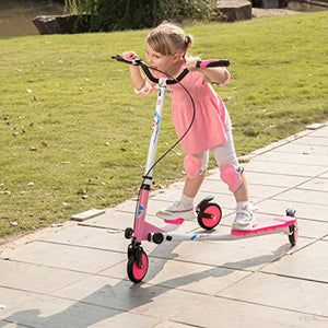 AODI Swing Scooter Adjustable 3 Wheels Foldable Wiggle Scooter Self Drifting for Kids/Adult Age 6 Years Old and Up - iBuy Africa
