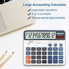 Load image into Gallery viewer, Pendancy Office Accounting 12 Digit Extra Large Display Large Button Desktop Calculator (OS-6815) - iBuy Africa