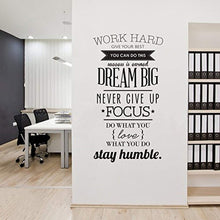 "Load image into Gallery viewer, ufengke Motivational ""Work Hard"" Quotes Wall Art Stickers Inspirational Words Letters Simple Decorative Removable DIY Vinyl Wall Decals Living Room, Bedroom Mural - iBuy Africa"