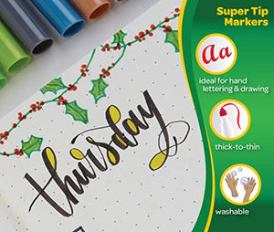 Crayola SuperTips Washable Felt Tip Colouring Pens, Pack of 24 - iBuy Africa